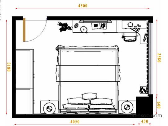 平面布置图柏俪兹系列卧房A10628