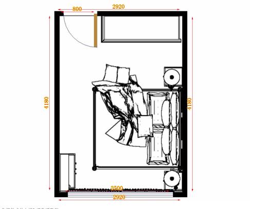平面布置图格瑞丝系列卧房A10663