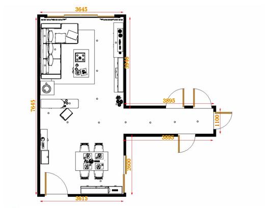 平面布置图斯玛特系列客餐厅G9198
