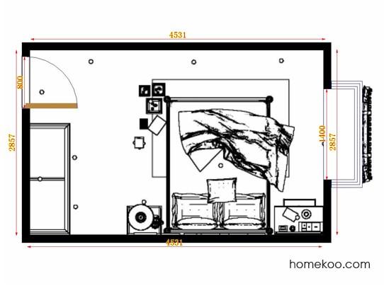 平面布置图德丽卡系列卧房A10670