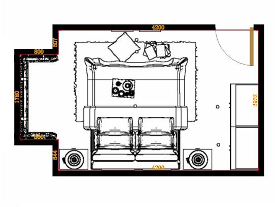 平面布置图斯玛特系列卧房A10682