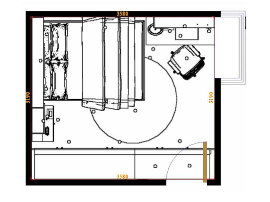 平面布置图柏俪兹系列卧房A10719