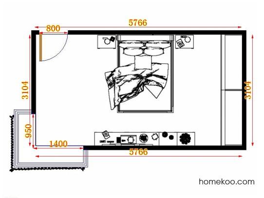 平面布置图格瑞丝系列卧房A10692