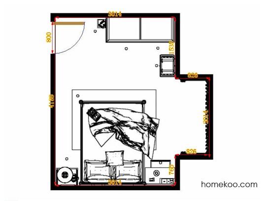 平面布置图贝斯特系列卧房A10694