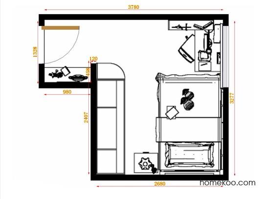 平面布置图格瑞丝系列青少年房B10589