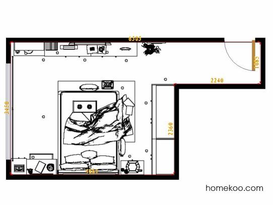 平面布置图柏俪兹系列卧房A10709
