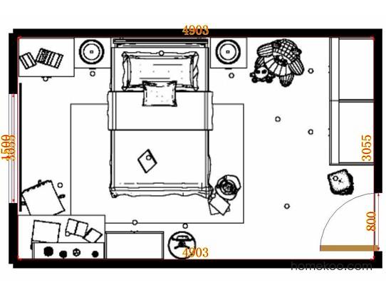平面布置图斯玛特系列青少年房B10602