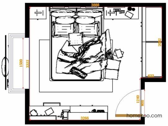平面布置图贝斯特系列卧房A10722