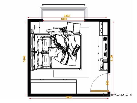 平面布置图乐维斯系列卧房A10750