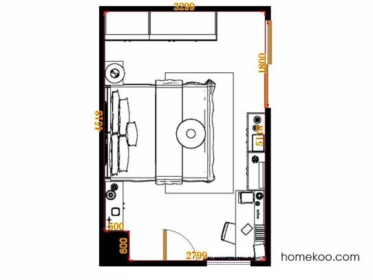 平面布置图格瑞丝系列卧房A10774