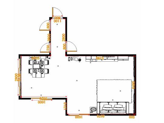 平面布置图格瑞丝系列客餐厅G9238