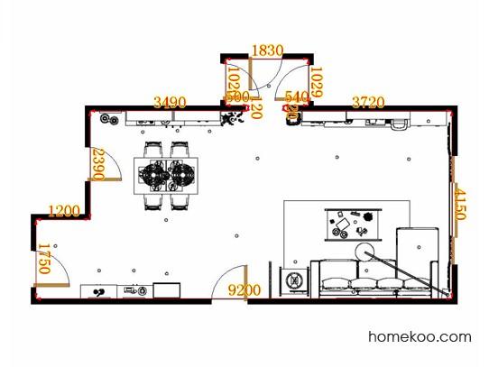 平面布置图斯玛特系列客餐厅G9239
