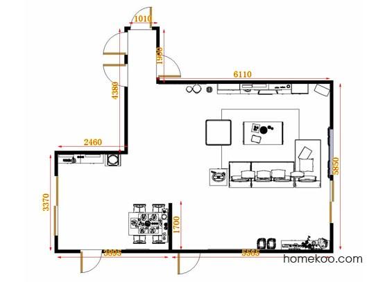 平面布置图柏俪兹系列客餐厅G9246
