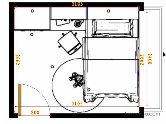 平面布置图德丽卡系列青少年房B10656