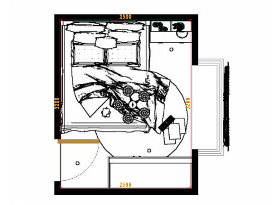 平面布置图格瑞丝系列卧房A10847
