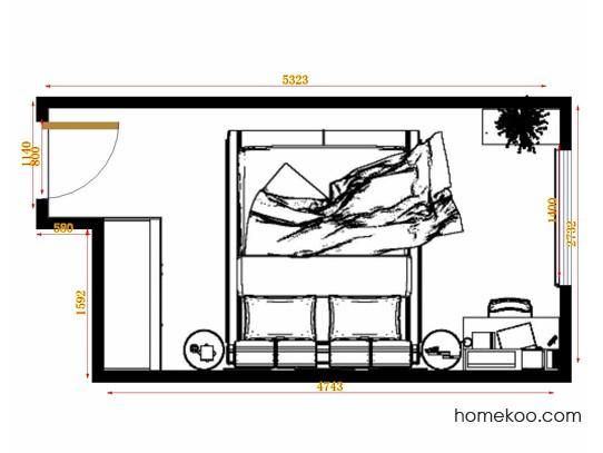 平面布置图柏俪兹系列卧房A10850