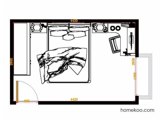平面布置图柏俪兹系列卧房A10859