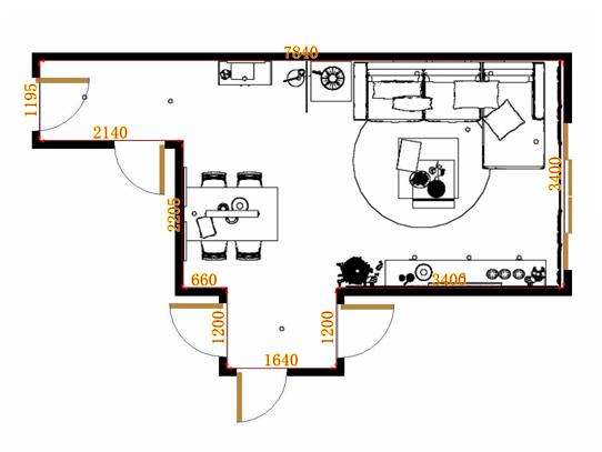 平面布置图贝斯特系列客餐厅G9264
