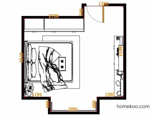 平面布置图柏俪兹系列卧房A10898