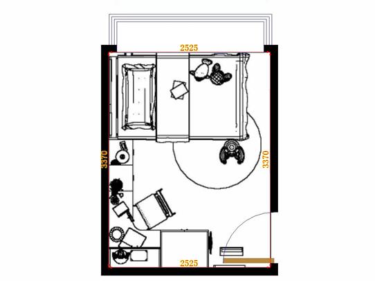 平面布置图柏俪兹系列青少年房B10700