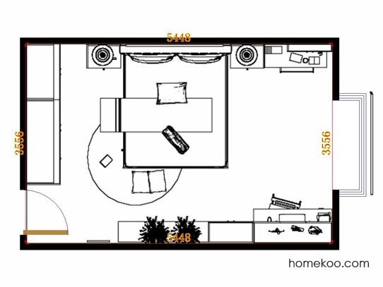 平面布置图德丽卡系列卧房A10943