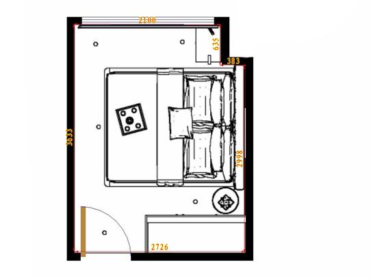 平面布置图乐维斯系列卧房A10946