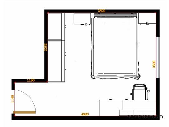 平面布置图贝斯特系列卧房A10947