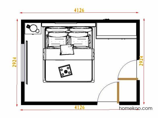 平面布置图德丽卡系列卧房A10950
