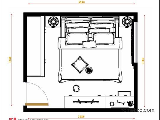 平面布置图格瑞丝系列卧房A10953