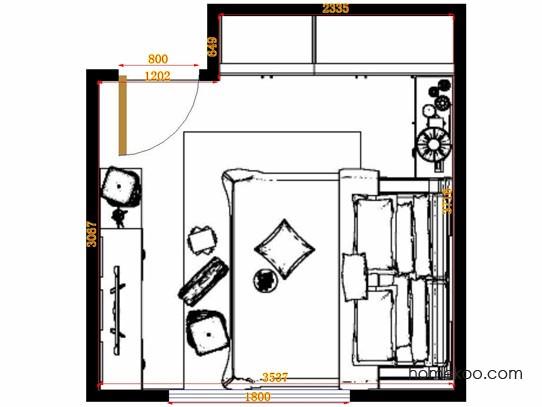 平面布置图斯玛特系列卧房A10972