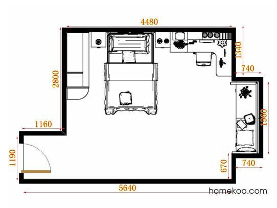 平面布置图斯玛特系列青少年房B10765