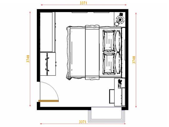 平面布置图贝斯特系列卧房A10976