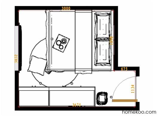 平面布置图乐维斯系列卧房A10991
