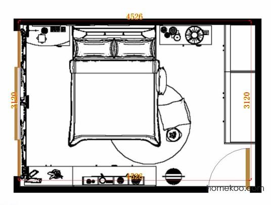 平面布置图斯玛特系列卧房A10992