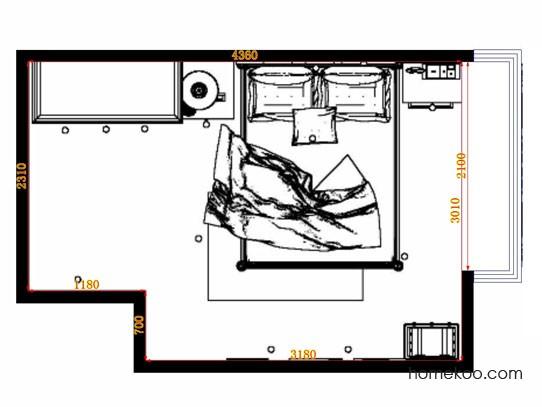 平面布置图贝斯特系列卧房A11040