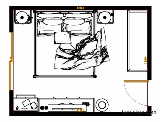 平面布置图斯玛特系列卧房A11059