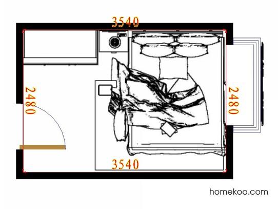 平面布置图斯玛特系列卧房A11079