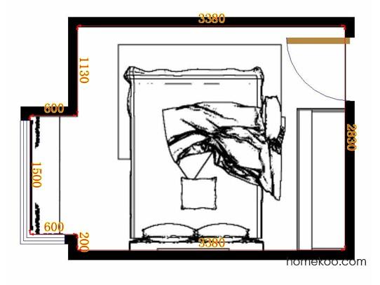 平面布置图贝斯特系列卧房A11096