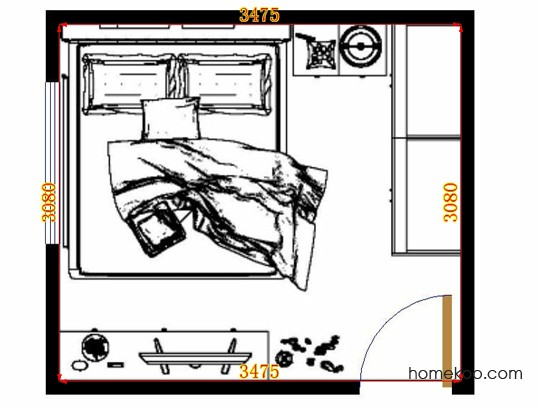 平面布置图贝斯特系列卧房A11153
