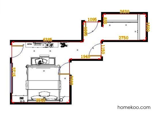 平面布置图斯玛特系列卧房A11154