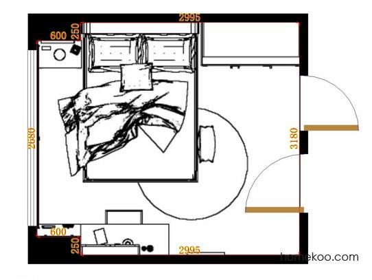 平面布置图德丽卡系列卧房A11175