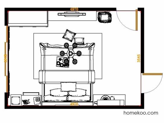 平面布置图德丽卡系列卧房A11177