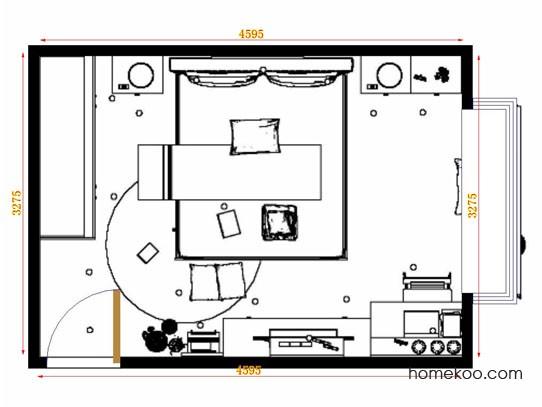 平面布置图格瑞丝系列卧房A11180