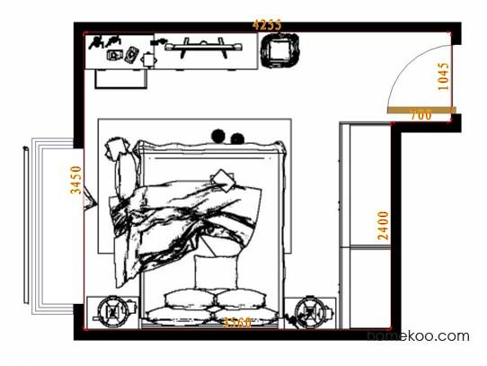 平面布置图柏俪兹系列卧房A11272