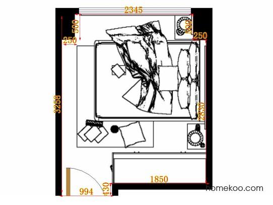 平面布置图斯玛特系列卧房A11195