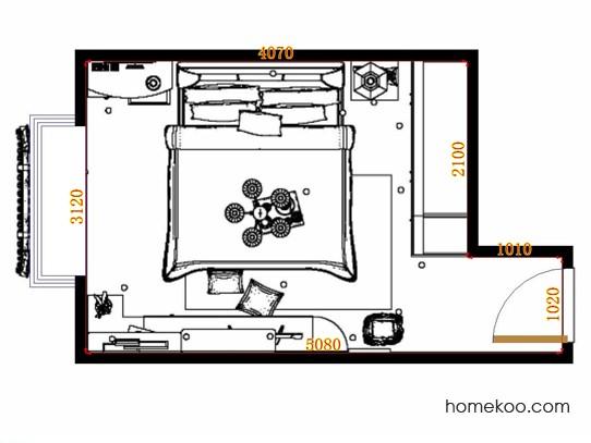 平面布置图斯玛特系列卧房A11198