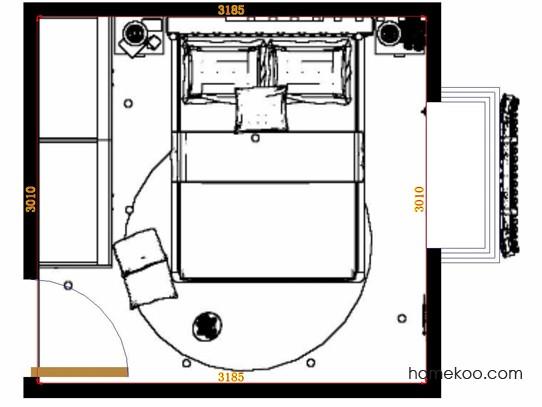 平面布置图斯玛特系列卧房A11205