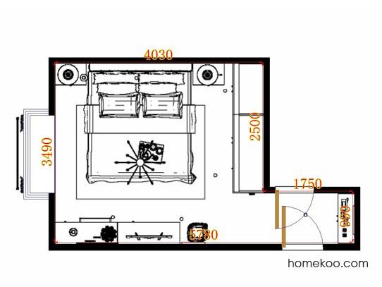 平面布置图乐维斯系列卧房A11209