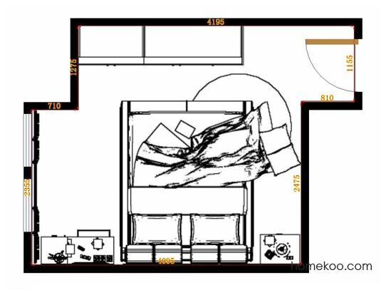 平面布置图斯玛特系列卧房A11225