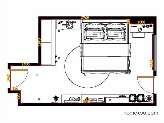 平面布置图乐维斯系列卧房A11231